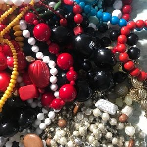 Colorful Wearable Bead Necklace Lot